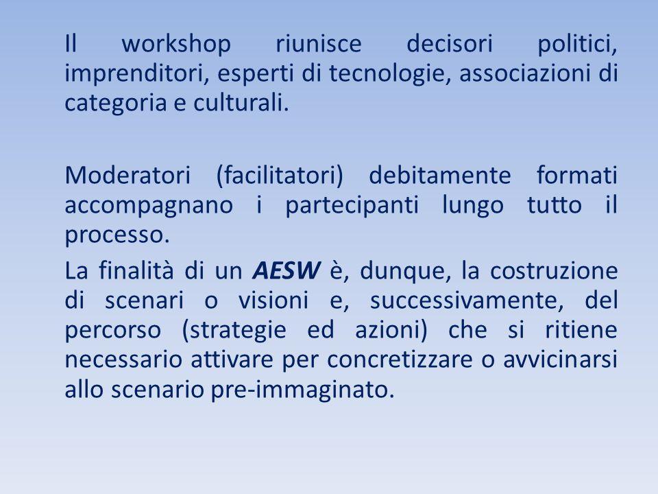 Il workshop riunisce decisori politici, imprenditori, esperti di tecnologie, associazioni di categoria e culturali.