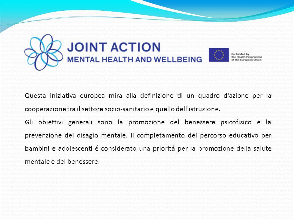 Questa iniziativa europea mira alla definizione di un quadro d azione per la cooperazione tra il settore socio-sanitario e quello dell istruzione.