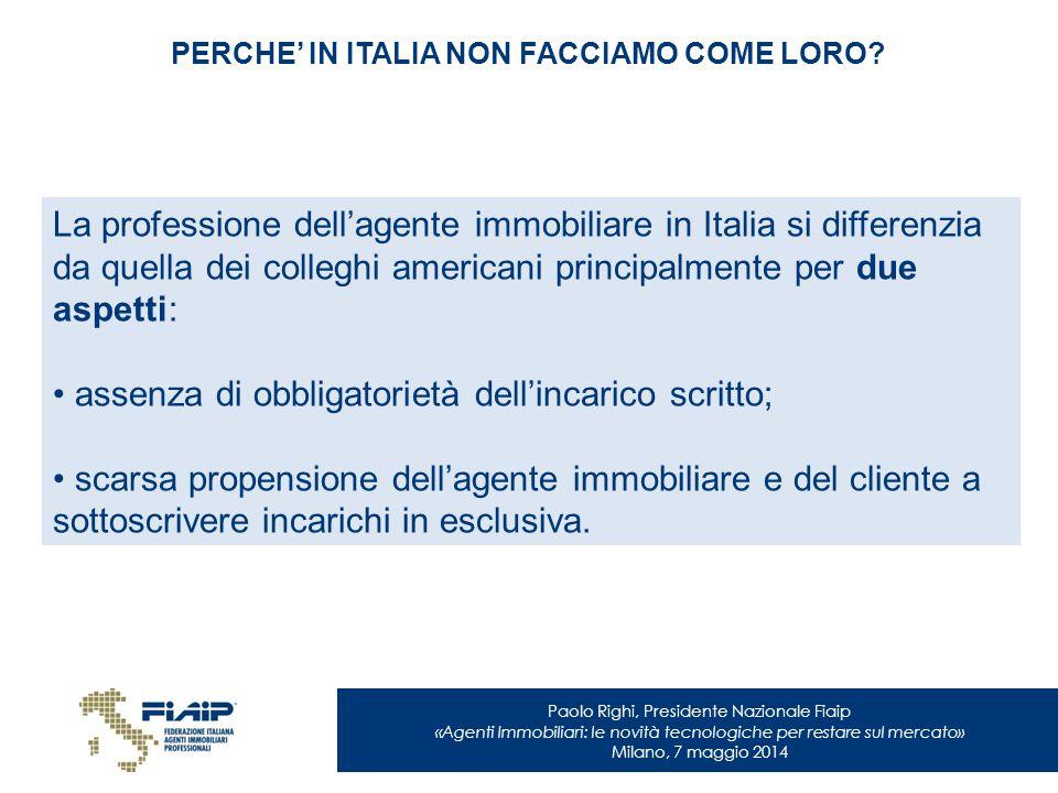 PERCHE' IN ITALIA NON FACCIAMO COME LORO