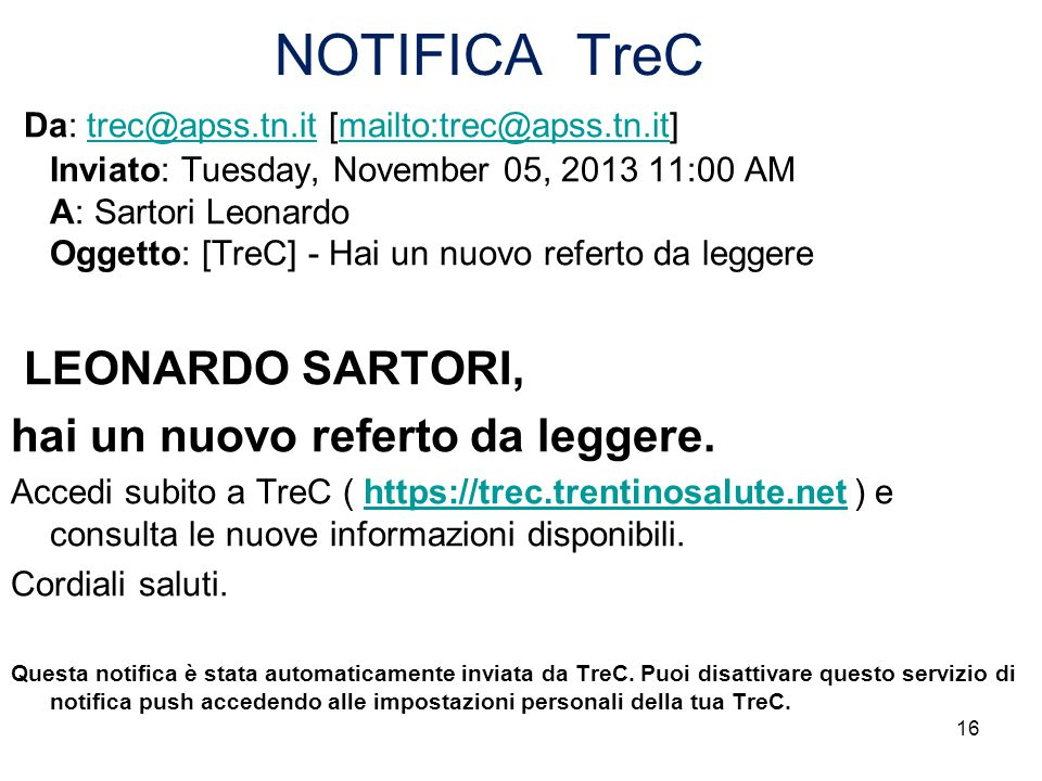 NOTIFICA TreC