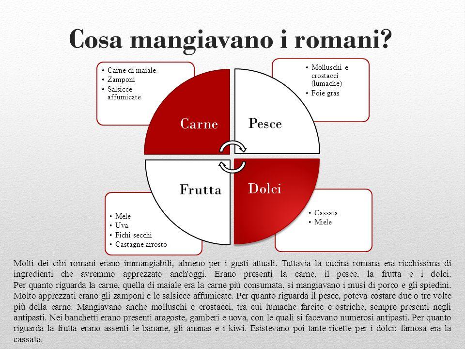 Cosa mangiavano i romani