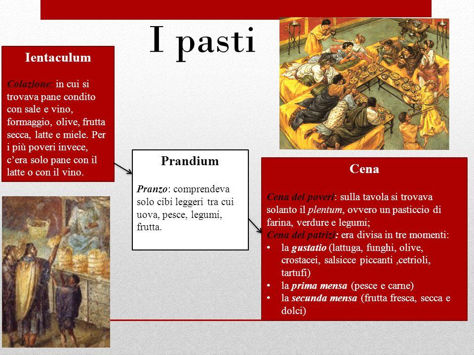 I pasti Ientaculum Prandium Cena
