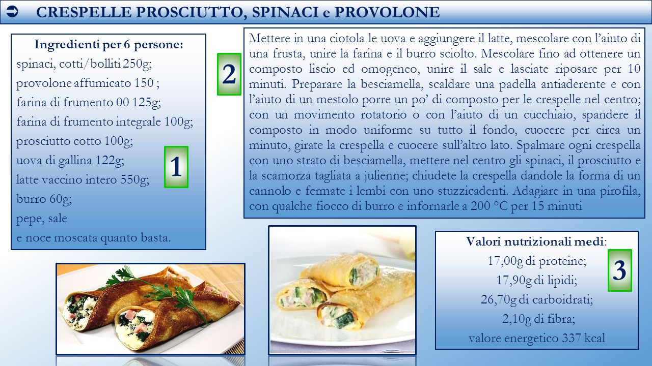 Ingredienti per 6 persone: