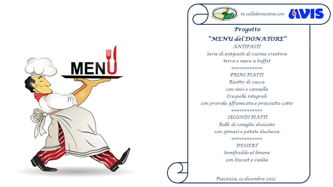 Progetto MENU del DONATORE
