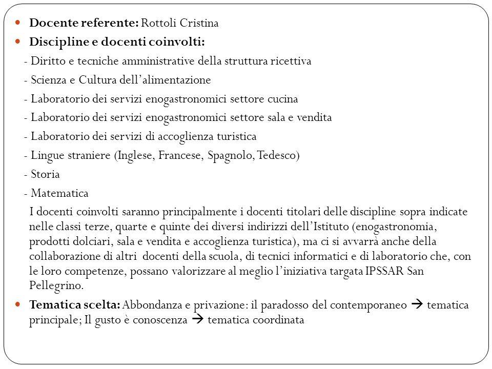 Docente referente: Rottoli Cristina