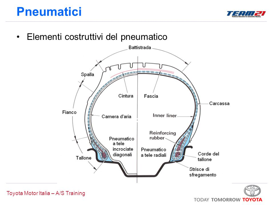 Pneumatici Elementi costruttivi del pneumatico