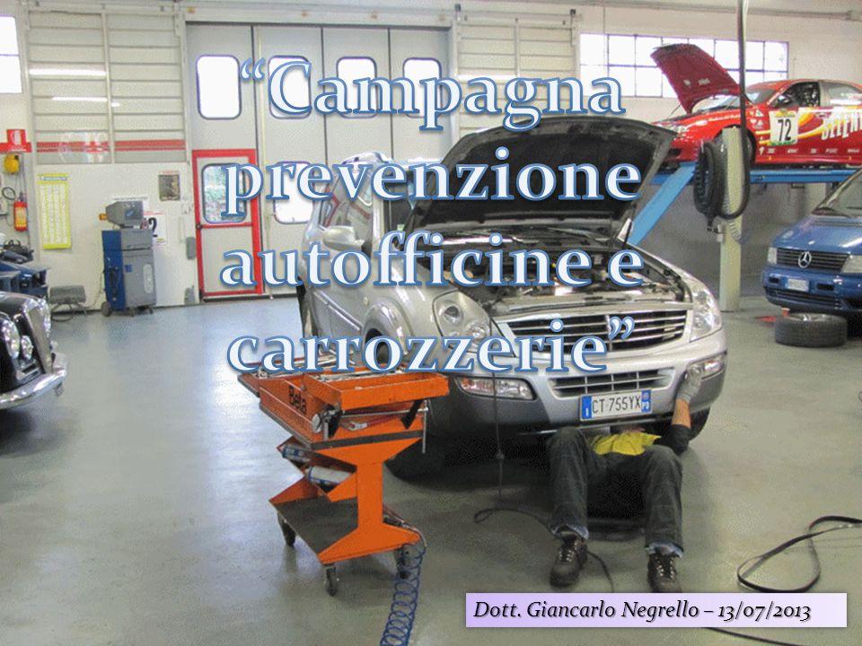 Campagna prevenzione autofficine e carrozzerie
