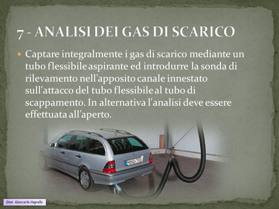 7 - ANALISI DEI GAS DI SCARICO
