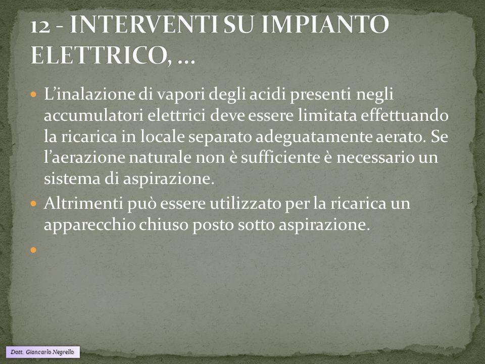 12 - INTERVENTI SU IMPIANTO ELETTRICO, …