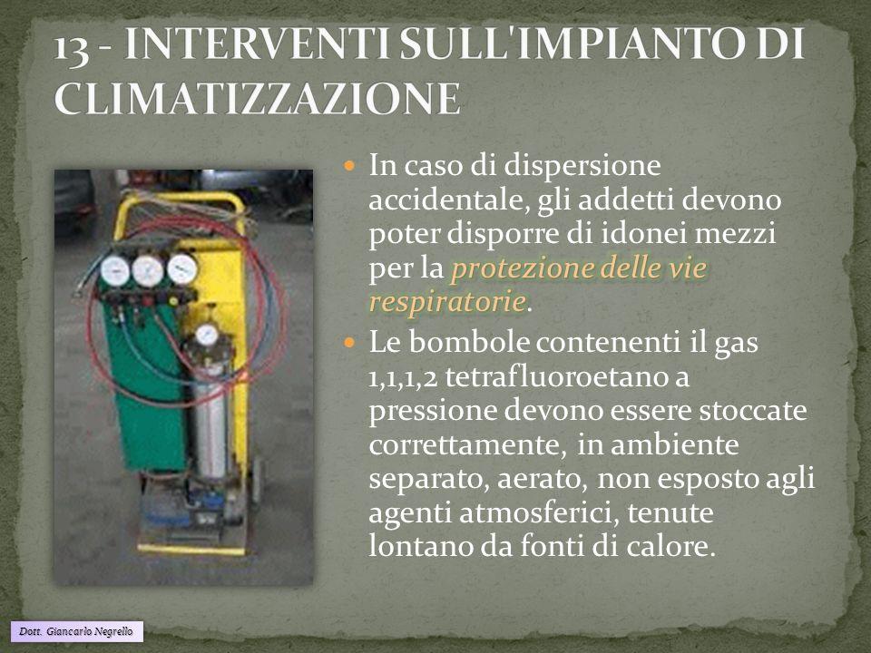 13 - INTERVENTI SULL IMPIANTO DI CLIMATIZZAZIONE