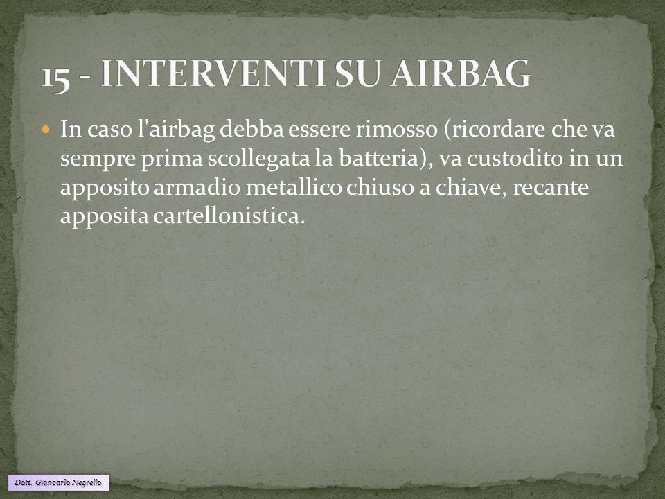 15 - INTERVENTI SU AIRBAG