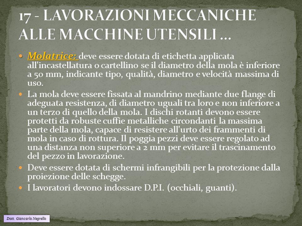 17 - LAVORAZIONI MECCANICHE ALLE MACCHINE UTENSILI …