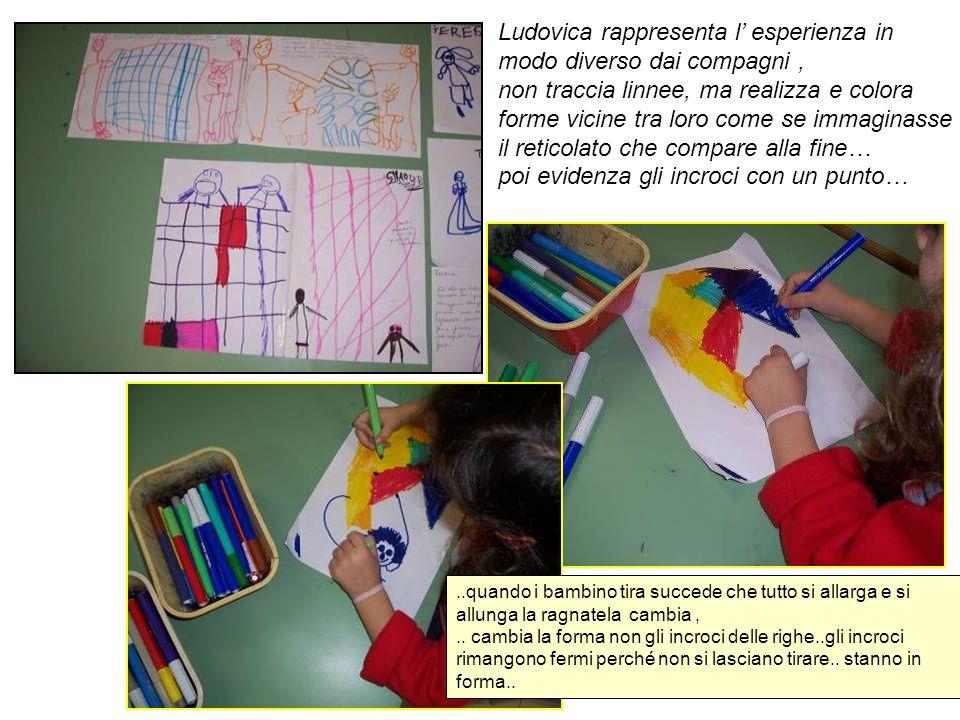 Ludovica rappresenta l' esperienza in modo diverso dai compagni ,