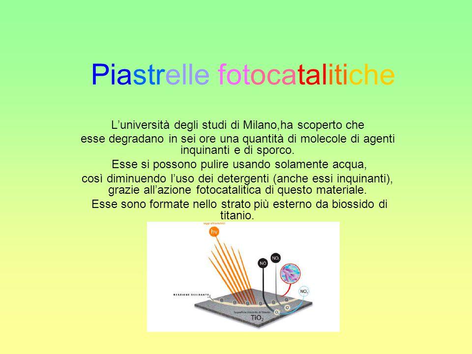 Piastrelle fotocatalitiche
