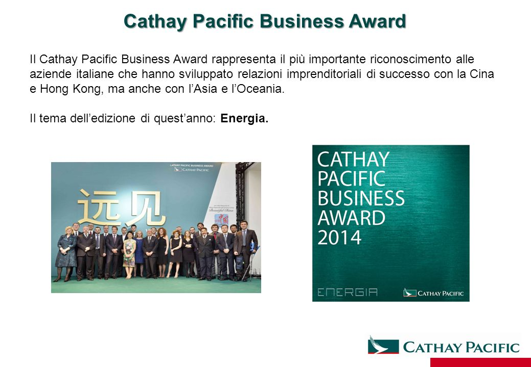 Cathay Pacific Business Award