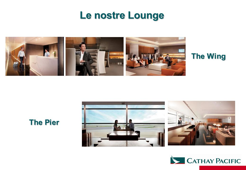 Le nostre Lounge The Wing The Pier