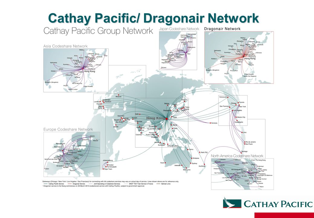 Cathay Pacific/ Dragonair Network