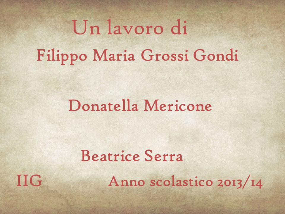 Un lavoro di Donatella Mericone Beatrice Serra