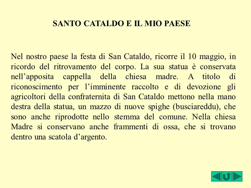 SANTO CATALDO E IL MIO PAESE