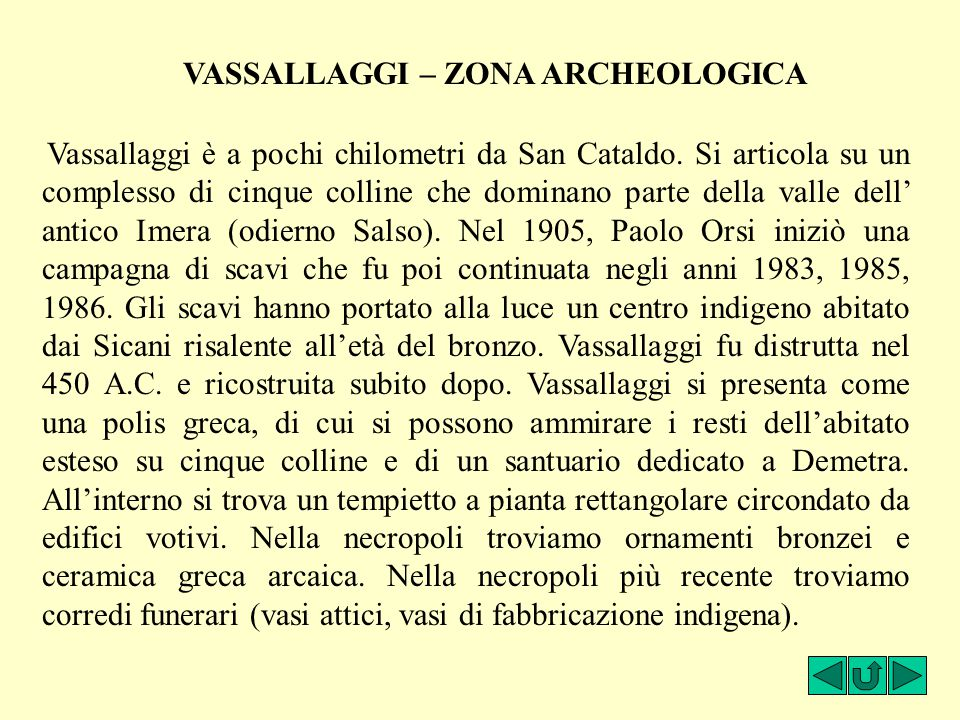 VASSALLAGGI – ZONA ARCHEOLOGICA