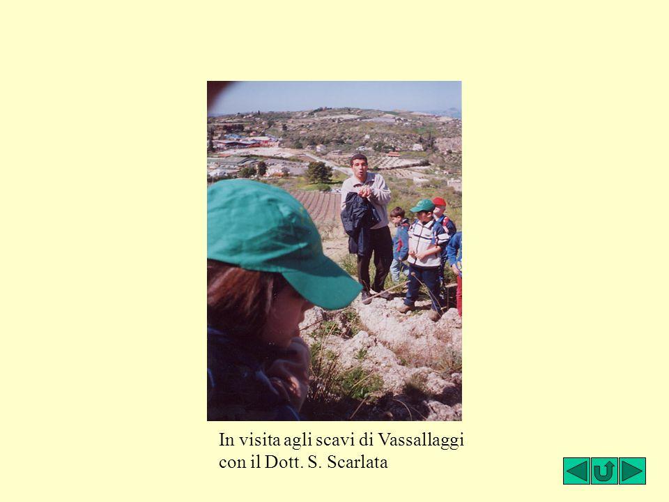 In visita agli scavi di Vassallaggi
