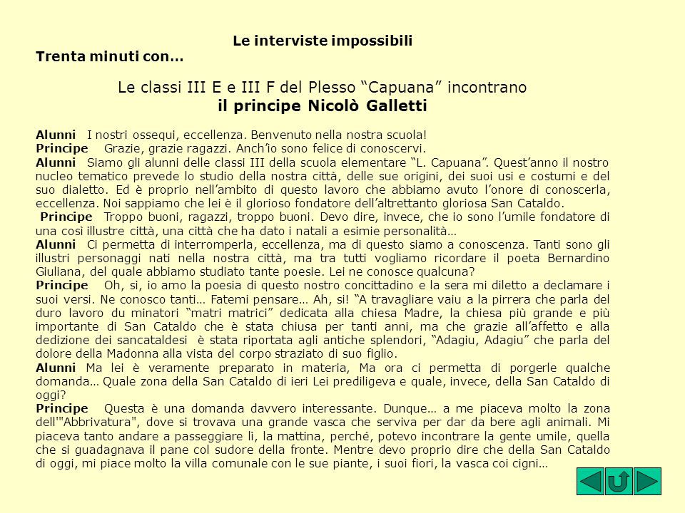 Le interviste impossibili
