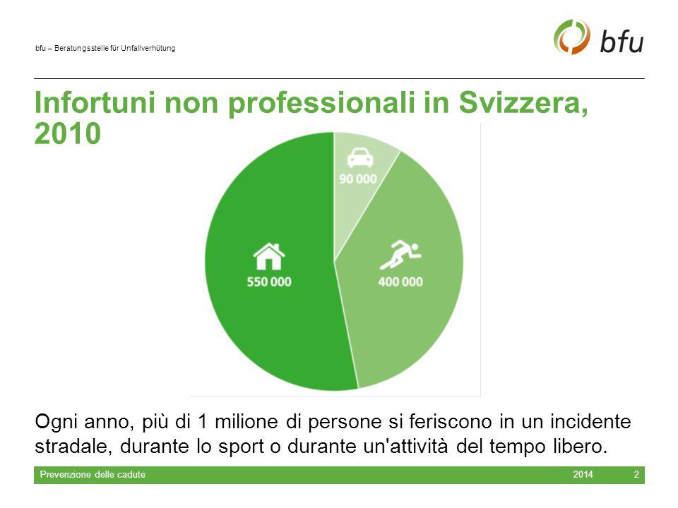Infortuni non professionali in Svizzera, 2010