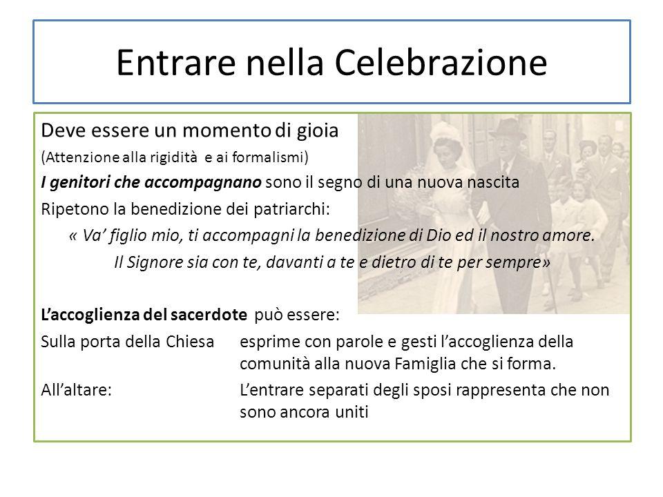 Entrare nella Celebrazione