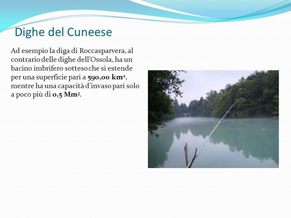 Dighe del Cuneese Ad esempio la diga di Roccasparvera, al