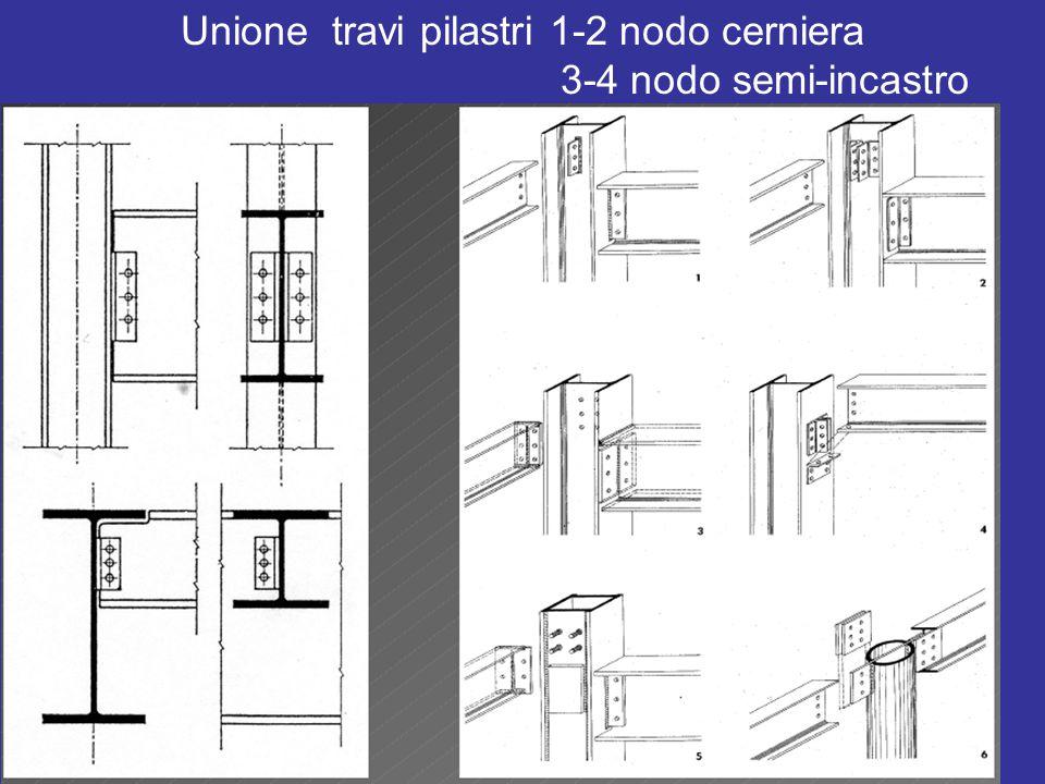 Unione travi pilastri 1-2 nodo cerniera