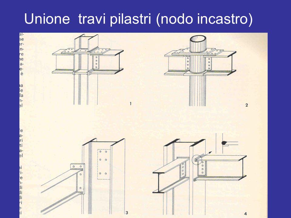 Unione travi pilastri (nodo incastro)
