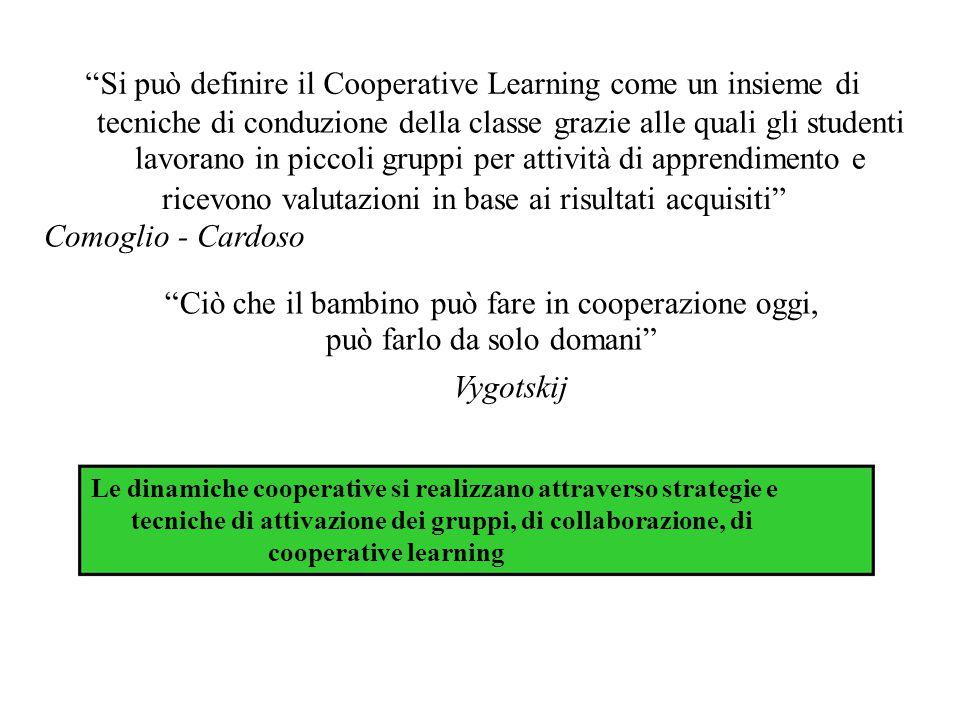 Si può definire il Cooperative Learning come un insieme di