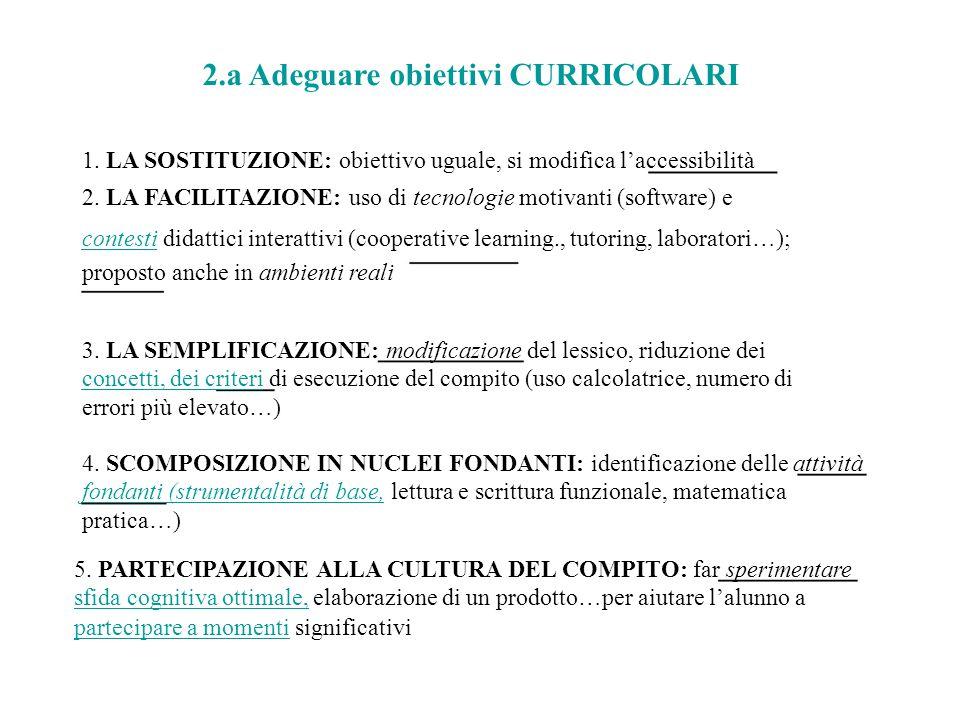 2.a Adeguare obiettivi CURRICOLARI