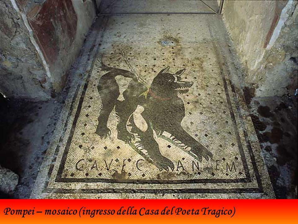 Pompei – mosaico (ingresso della Casa del Poeta Tragico)