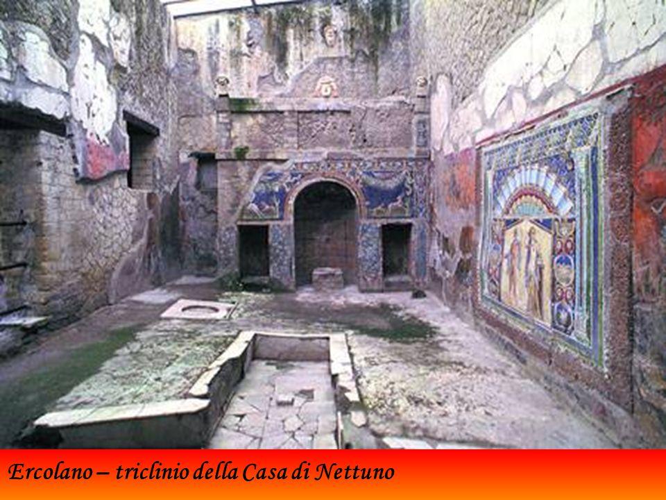 Ercolano – triclinio della Casa di Nettuno