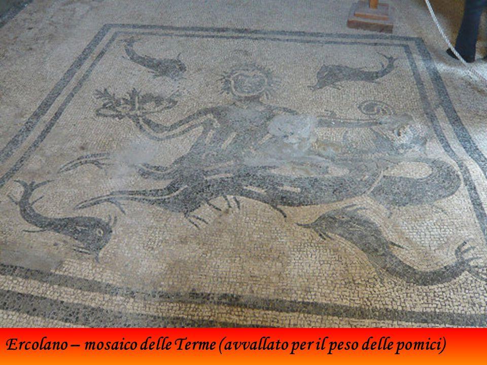 Ercolano – mosaico delle Terme (avvallato per il peso delle pomici)