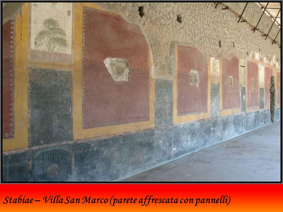 Stabiae – Villa San Marco (parete affrescata con pannelli)