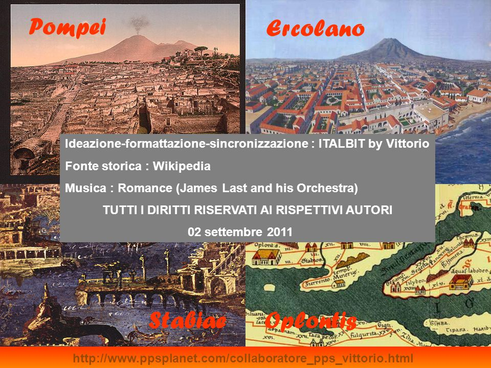 Pompei Ercolano Stabiae Oplontis