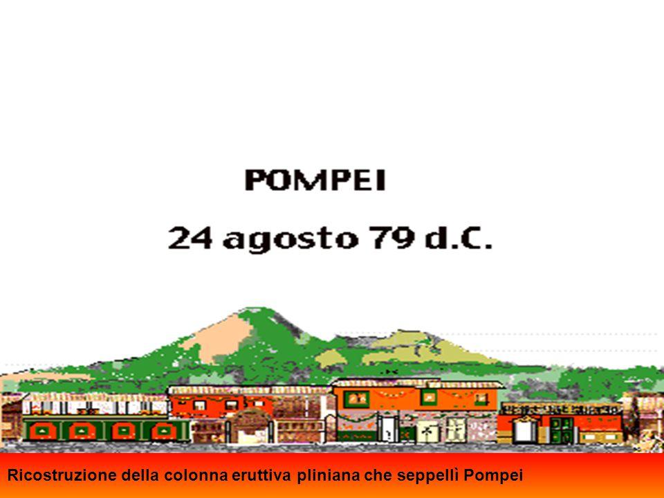 Capo Miseno Ricostruzione della colonna eruttiva pliniana che seppellì Pompei