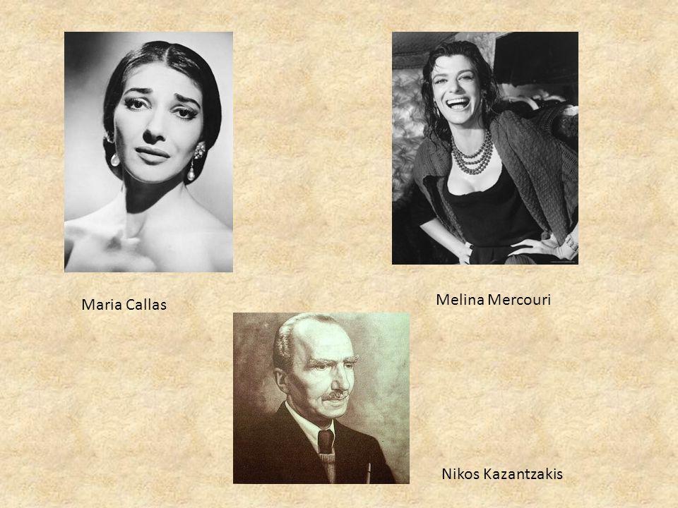 Melina Mercouri Maria Callas Nikos Kazantzakis
