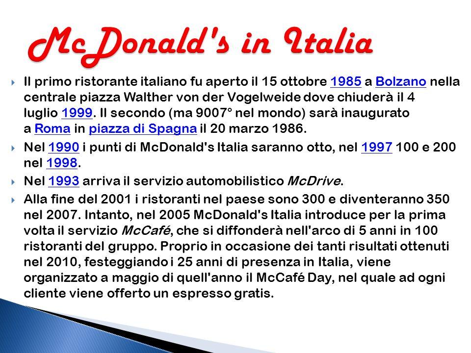 McDonald s in Italia