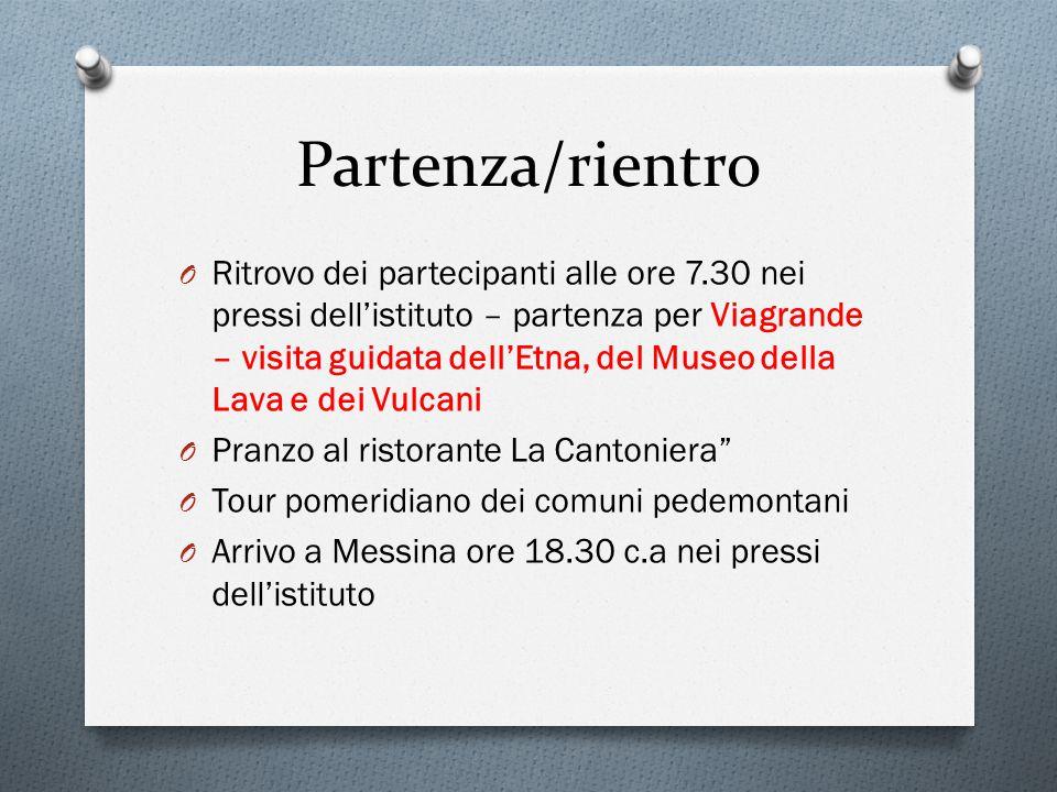 Partenza/rientro