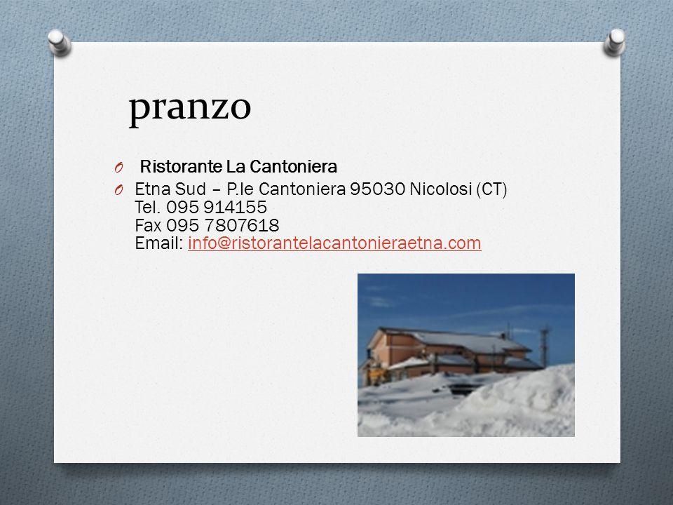 pranzo Ristorante La Cantoniera