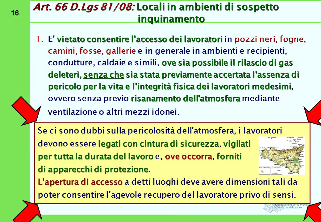 Art. 67 D. Lgs 81/08: Notifiche all'organo di vigilanza