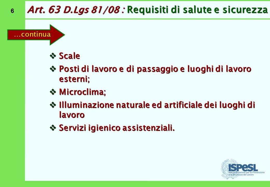 Art. 63 D.Lgs 81/08: Requisiti di salute e sicurezza