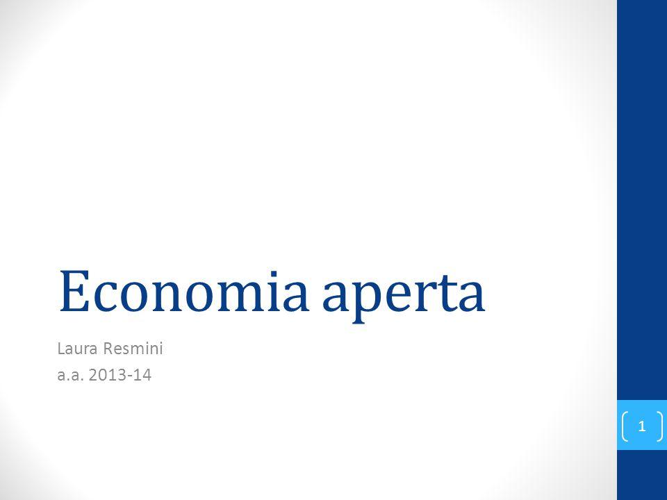 Economia aperta Laura Resmini a.a. 2013-14