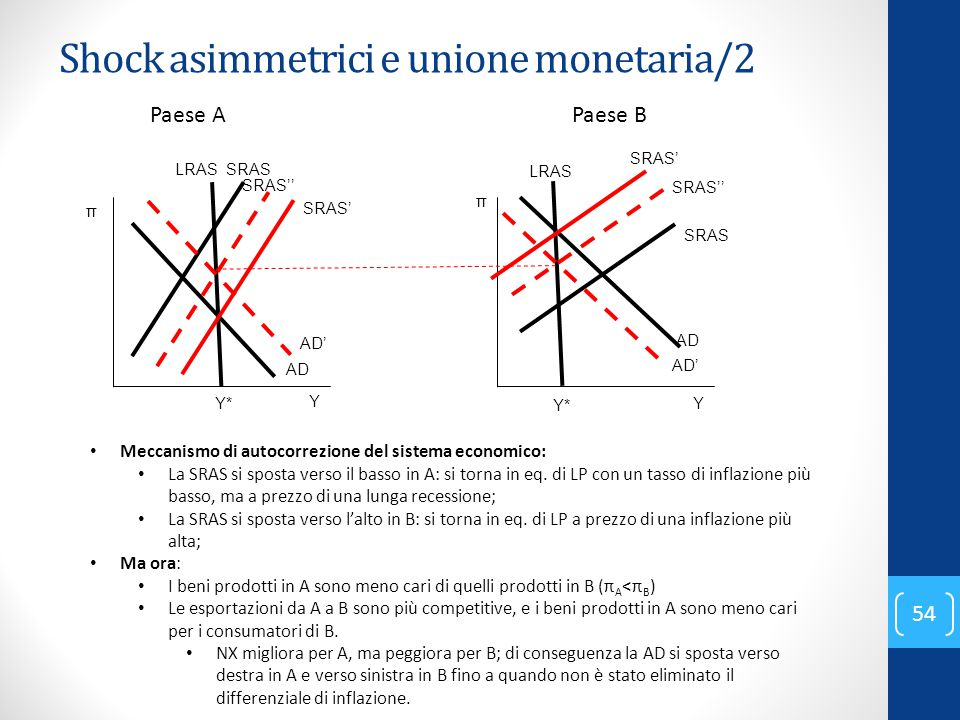 Shock asimmetrici e unione monetaria/2