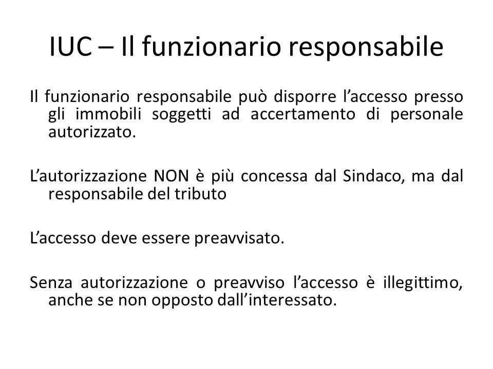 IUC – Il funzionario responsabile