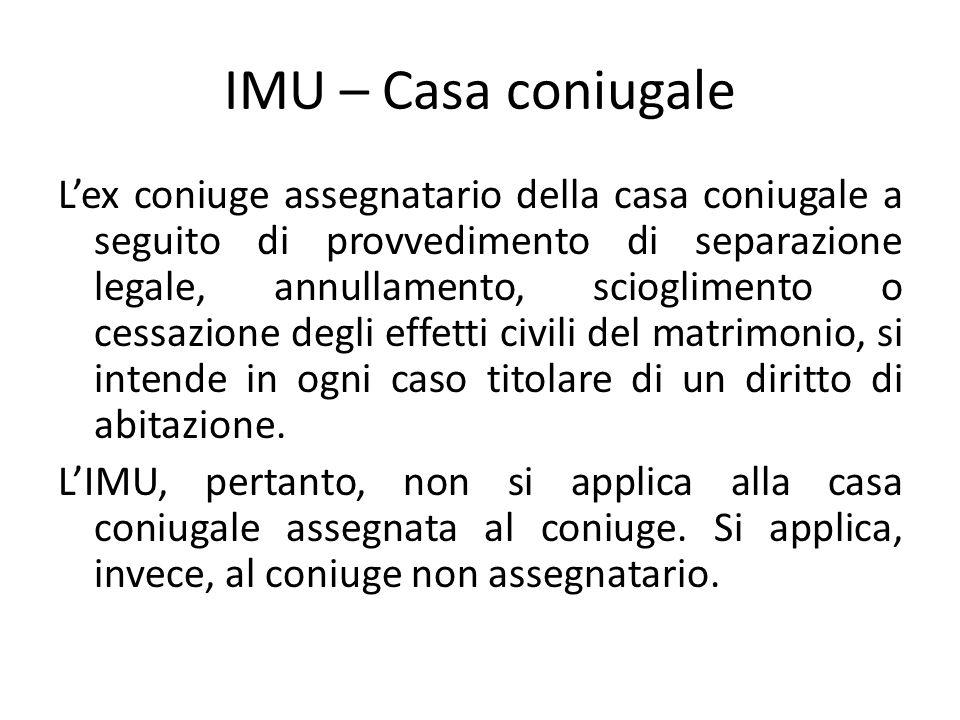 IMU – Casa coniugale