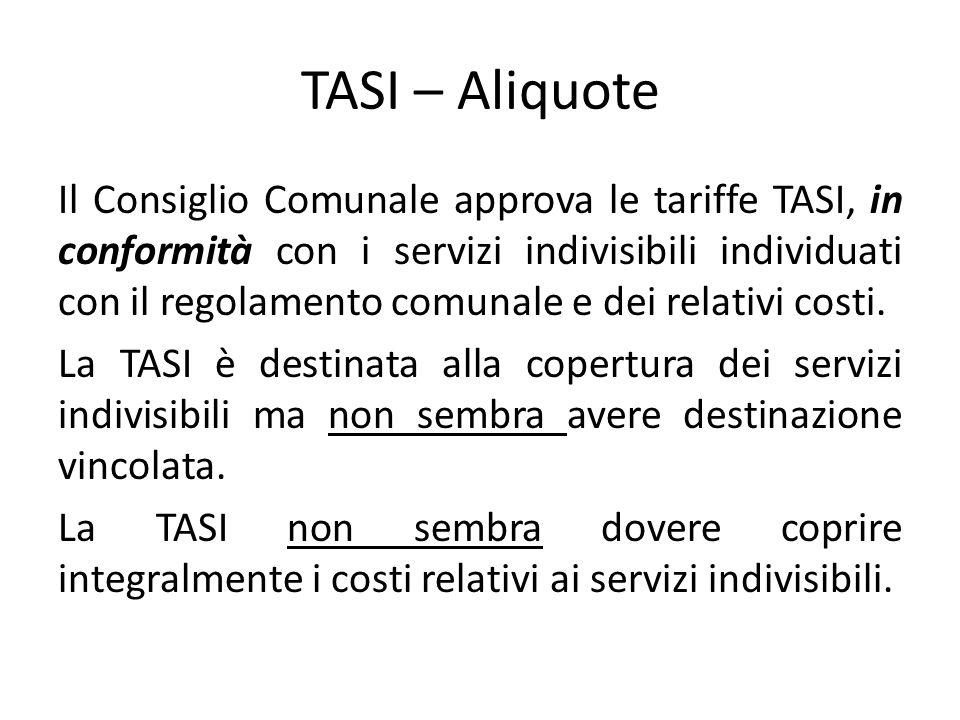 TASI – Aliquote